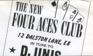 21st Oct The Four Aces Club Winstan Whitter